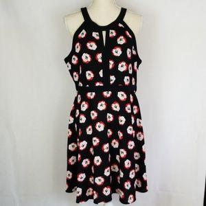 Elle Rosette Halter Dress Size 16